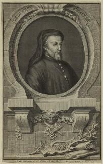 Geoffrey Chaucer, by Jacobus Houbraken - NPG D24074