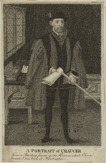 Geoffrey Chaucer, after Unknown artist - NPG D24077