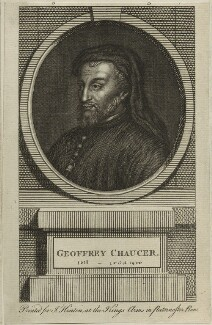Geoffrey Chaucer, published by John Hinton - NPG D24078