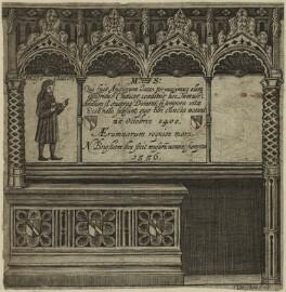 Geoffrey Chaucer, by Robert Vaughan - NPG D24079