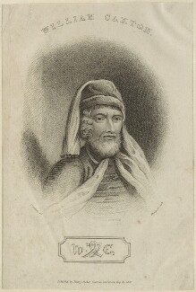 William Caxton, by James Thomson (Thompson), published by  Henry Fisher, after  Thomas Griffiths - NPG D24086