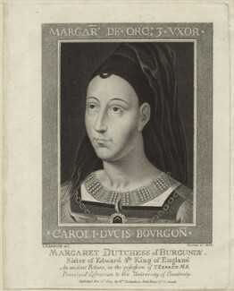 Margaret, Duchess of Burgundy, by Johann Gottlieb Facius, after  Thomas Kerrich - NPG D24089