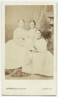 Sybell Rachel Blackett (née Corbet); Beatrice Augusta Corbet; Alice Nina Rowley (née Corbet), by Augustin Aimé Joseph Le Jeune - NPG x22117
