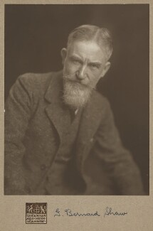 George Bernard Shaw, by James Craig Annan, 1910 - NPG P1131 - © National Portrait Gallery, London