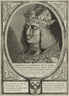 Maximilian I, Holy Roman Emperor, by Cornelis Visscher, after  Lucas van Leyden - NPG D24116