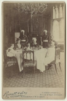 'A Royal Luncheon Party at Windsor', by Mary Steen, printed and published by  James Russell & Sons - NPG x46561
