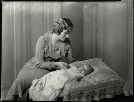 Hilda May Allanson-Winn (née Wells-Thorpe), Lady Headley; John Rowland Allanson-Winn, 8th Baron Headley, by Bassano Ltd - NPG x151527