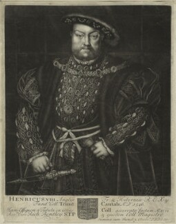 King Henry VIII, by John Faber Sr, after  Hans Holbein the Younger - NPG D24141