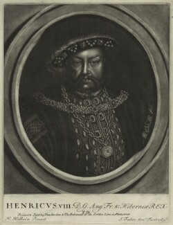 King Henry VIII, by John Faber Sr, after  Hans Holbein the Younger - NPG D24142