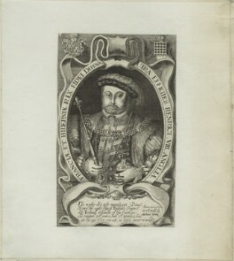 King Henry VIII, by Francis Delaram, early 17th century - NPG D24144 - © National Portrait Gallery, London