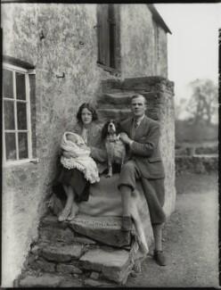 Hon. Lena Barbara Joan Onslow (née Ogilvie-Grant); Roger Cranley Seafield Onslow; Frank Herbert Onslow, by Bassano Ltd - NPG x151536