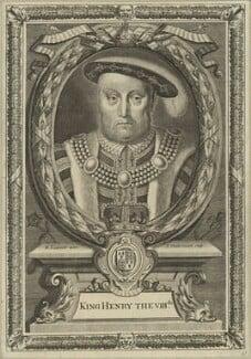 King Henry VIII, by Peter Vanderbank (Vandrebanc), after  Edward Lutterell (Luttrell) - NPG D24160