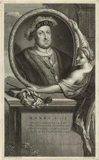 King Henry VIII, by Gerard Valck, after  Adriaen van der Werff - NPG D24163
