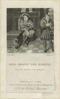 King Henry VIII and William Somer (Sommers), by James Thomson (Thompson), after  Henry Corbould - NPG D24164