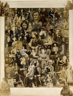 Collage of 101 figures, compiled by Cecilia Mary Jocelyn (née Elliot), after  Disdéri, after  John Jabez Edwin Mayall, after  Camille Silvy, and after  Unknown photographers, 1860s - NPG Ax129160 - © National Portrait Gallery, London