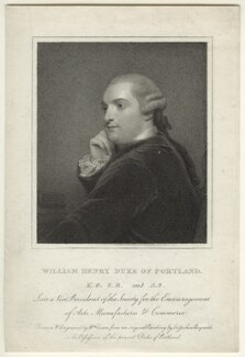 William Henry Cavendish Bentinck, 3rd Duke of Portland, by William Evans, after  Sir Joshua Reynolds - NPG D31637