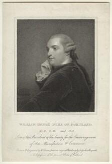 William Henry Cavendish Bentinck, 3rd Duke of Portland, by William Evans, after  Sir Joshua Reynolds, published 1811 - NPG D31637 - © National Portrait Gallery, London