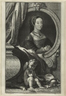 Unknown woman engraved as Catherine Howard, by Jacobus Houbraken, after  Hans Holbein the Younger - NPG D24183