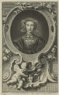 Anne of Cleves, by Jacobus Houbraken, published by  John & Paul Knapton, after  Hans Holbein the Younger - NPG D24188
