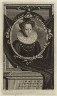 Katherine Parr, by Cornelis Martinus Vermeulen, after  Adriaen van der Werff, late 17th century - NPG D24192 - © National Portrait Gallery, London