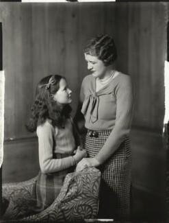 Elizabeth Valerie Cross (née Eaton); Sheila Marguerite Eaton (née Dumbleton), by Bassano Ltd - NPG x151564