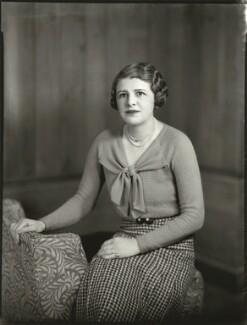 Sheila Marguerite Eaton (née Dumbleton), by Bassano Ltd - NPG x151566