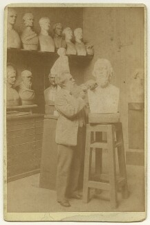 Thomas Woolner, by Frank Dudman, for  Joseph Parkin Mayall - NPG x13286