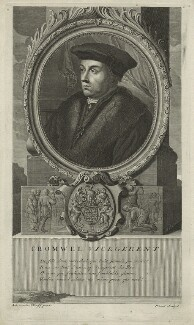 Thomas Cromwell, Earl of Essex, probably by Nicholas Pitaut II, after  Adriaen van der Werff, possibly late 17th century - NPG D24209 - © National Portrait Gallery, London