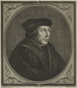 Thomas Cromwell, Earl of Essex, possibly by I. Absolam, after  Hans Holbein the Younger, possibly 18th century - NPG D24211 - © National Portrait Gallery, London