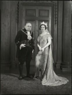 Sir Stephen Killik; Dorothy Lillian Molyneux Greenland (née Killik), by Bassano Ltd - NPG x151601