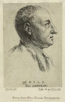 Henry St John, 1st Viscount Bolingbroke, by Jonathan Richardson - NPG D31687