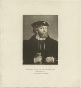 Unknown man engraved as Edward Stafford, 3rd Duke of Buckingham, by Unknown artist - NPG D24222