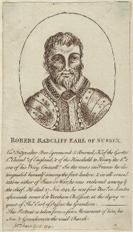 Robert Radcliffe, 1st Earl of Sussex, published for John Thane - NPG D24227