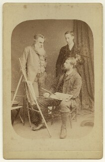 Thomas Woolner with two unknown men, by John Golden Short - NPG x5139