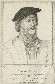 Thomas Vaux, 2nd Baron Vaux of Harrowden, by Luigi Schiavonetti, after  Hans Holbein the Younger - NPG D24229