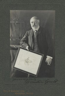 Sir Francis Carruthers Gould ('F.C.G.'), by Olive Edis, and  Katharine Legat (née Edis) - NPG x13812