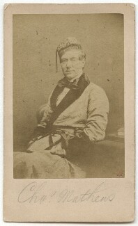 Charles James Mathews as Dazzel in 'London Assurance', by Herbert Watkins - NPG x21240