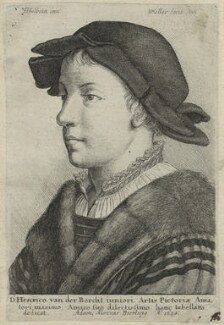 Unknown man (probably Swiss), by Wenceslaus Hollar, after  Hans Holbein the Younger - NPG D24239