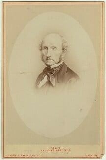 John Stuart Mill, by John Watkins, or by  John & Charles Watkins, printed by  London Stereoscopic & Photographic Company, 1865 (1870s) - NPG x12520 - © National Portrait Gallery, London