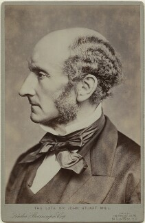 John Stuart Mill, by John Watkins, or by  John & Charles Watkins, printed by  London Stereoscopic & Photographic Company, 1865 (1900s) - NPG x12522 - © National Portrait Gallery, London