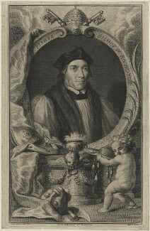 John Fisher, by Jacobus Houbraken, after  Hans Holbein the Younger - NPG D24259