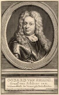 Godard van Reede-Ginckel, 1st Earl of Athlone, by Jacobus Houbraken, after  Ursula Philippota Reede-Ginckel (née van Raesfelt), Countess of Athlone, 1702 or after - NPG D9012 - © National Portrait Gallery, London