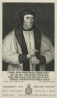 Richard Foxe, by George Vertue, after  Johannes Corvus - NPG D24272