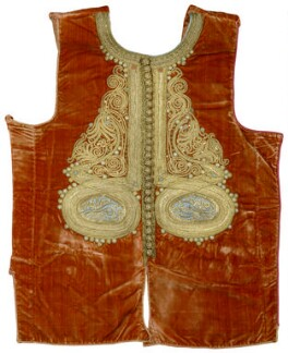 Embroidered garment front panel belonging to Thomas Hope, by Unknown artist - NPG D31702