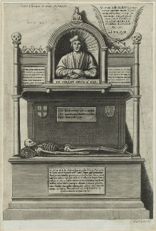 Monument to John Colet in St. Paul's Cathedral, possibly by Wenceslaus Hollar - NPG D24287
