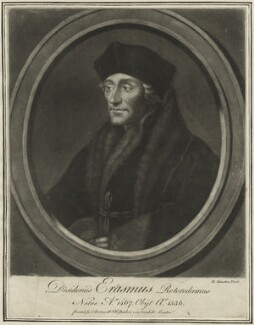 Desiderius Erasmus, by Richard Houston - NPG D24293