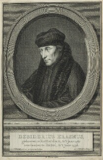 Desiderius Erasmus, possibly by Jacobus Houbraken - NPG D24295