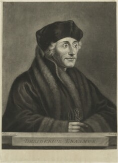 Desiderius Erasmus, by Richard Houston, after  Hans Holbein the Younger - NPG D24296