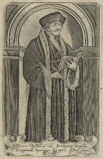 Desiderius Erasmus, by James Clark, or by  John Clarke (Clark) - NPG D24298