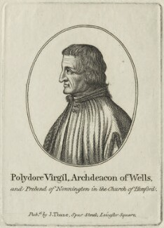 Polydore Vergil, published by John Thane, possibly early 19th century - NPG D24305 - © National Portrait Gallery, London